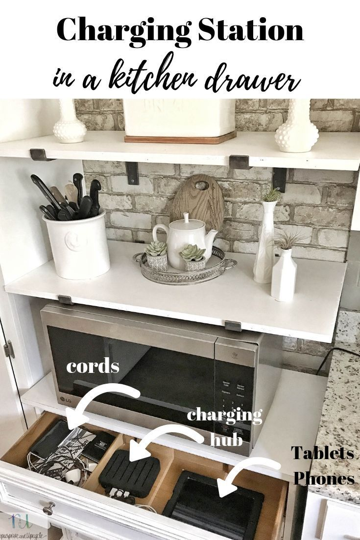 DIY Family Charging Station to Organize Cords and Devices