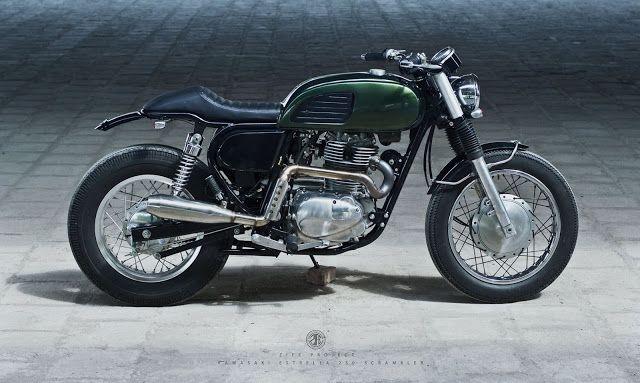 100% elegant > Kawasaki Estrella 250 Brat Cafe Racer by ZIFE Design #caferacer #scrambler #bratstyle | caferacerpasion.com