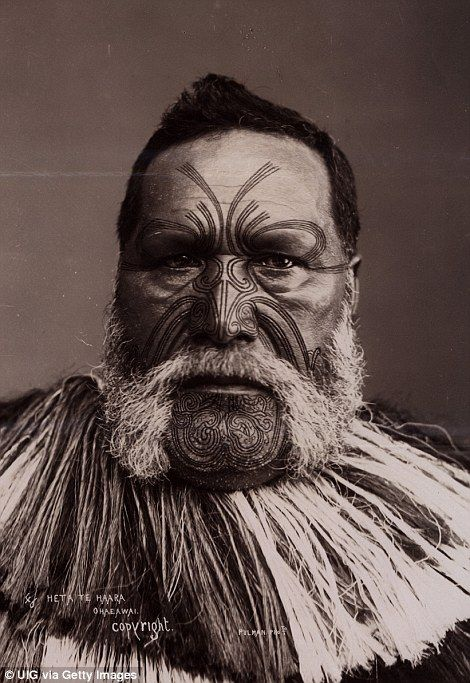Maori face and body tattoos called Moko describe families and ...
