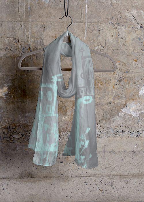 Cashmere Silk Scarf - Mystic Blue Rose by VIDA VIDA cAT2TDUgD