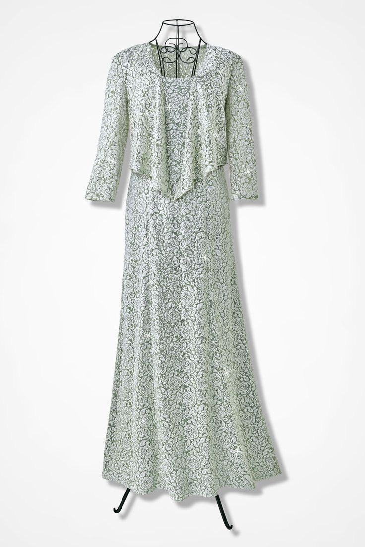 Lace Delight Jacket Dress by Alex Evenings - Coldwater Creek