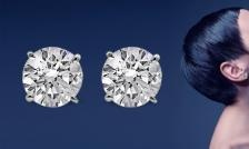 $9 and Up for a Pair of Simulated-Diamond Stud Earrings - Shipping and Taxes Included ($ 140 Value)