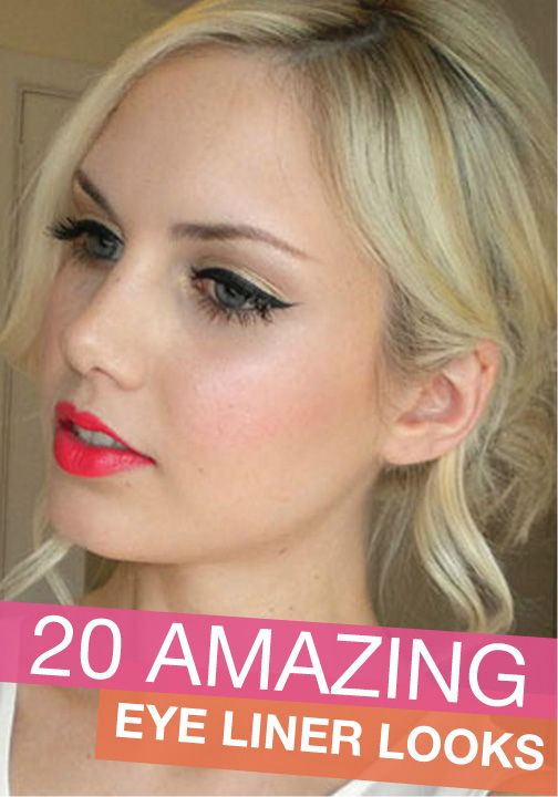 These bold eye liner looks are amazing – and so easy to do!
