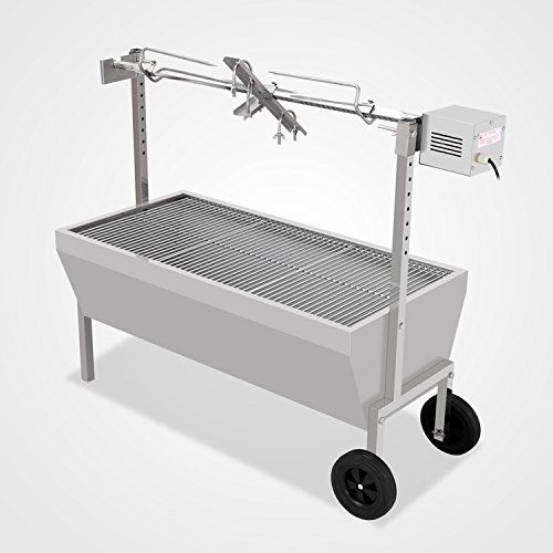 Generic 132LBS 3543 Chicken Gyro Pig Goat Lamp Charcoal Barbeque BBQ Grill Spit Rotisserie Hog Roaster with 110v 220v Motor *** You can find more details by visiting the image link. (This is an affiliate link)