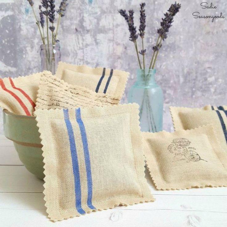 S salvar as cortinas rasgadas para estas 11 idéias brilhantes, decoração da casa, tratamentos de janela, cortá-los em saquetas de grãos francês inspirado