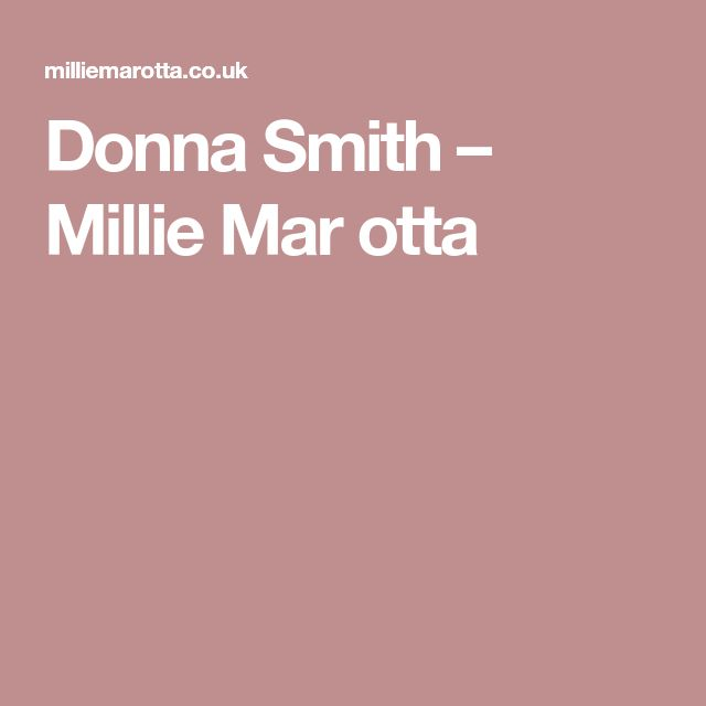 Donna Smith – Millie Mar otta