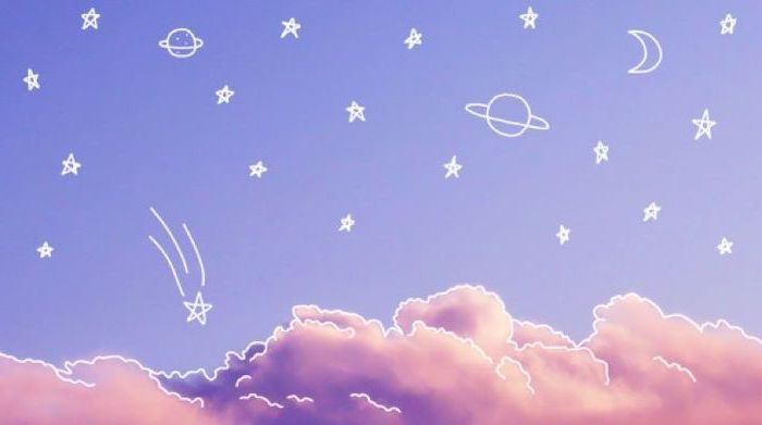 Blue Sky Pink Clouds Rose Wallpaper Phone Planets Stars Drawn In 2020 Aesthetic Desktop Wallpaper Desktop Wallpapers Tumblr Desktop Wallpaper Art