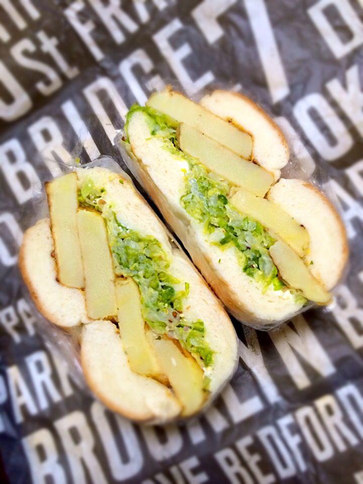 るん's dish photo おべんと | http://snapdish.co #SnapDish #サンドイッチ #ベーグル #お弁当