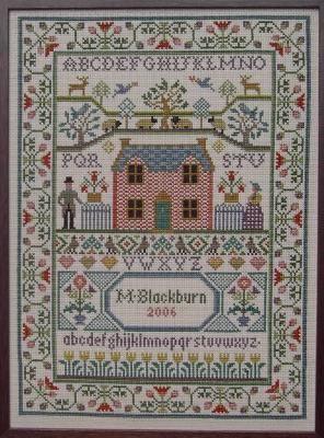 Country Cottage Sampler by Moira Blackburn