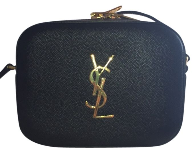 Saint Laurent Small Textured Leather Camera Black Cross Body Bag. Get the trendiest Cross Body Bag of the season! The Saint Laurent Small Textured Leather Camera Black Cross Body Bag is a top 10 member favorite on Tradesy. Save on yours before they are sold out! 860
