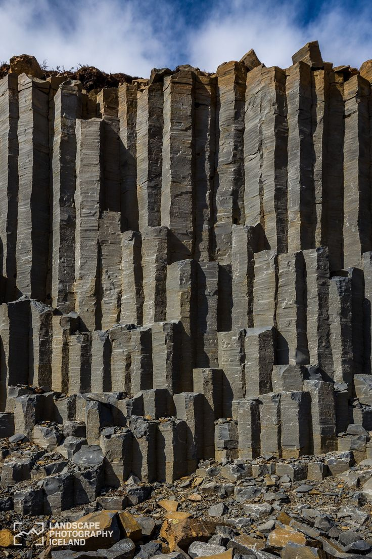 Basalt columns, the wall • Iceland