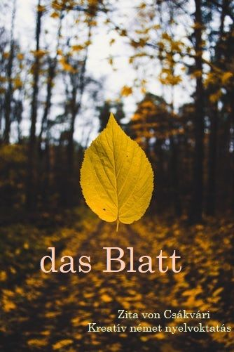 das Blatt = falevél die Blätter = falevelek