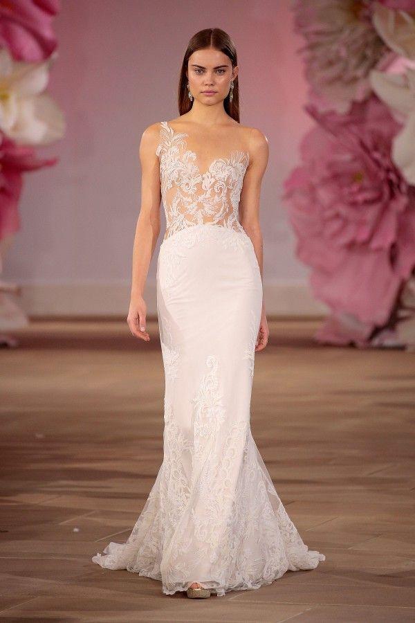 Ines Di Santo 2017 Collection Is Pure Romance Illusion Wedding DressesSheath