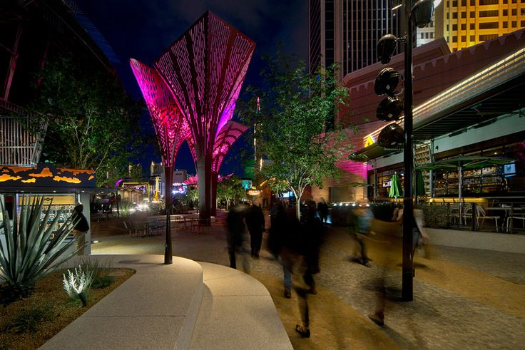 2016 AL Design Awards: MGM Resorts International: The Park—Shade Structures | Architectural Lighting Magazine | Exteriors, Lighting Design, Award Winners, 2016 AL Design Awards, Arup
