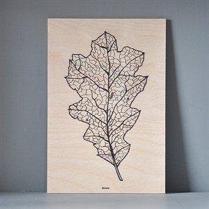 Træskilt XL - Botanic Leaf