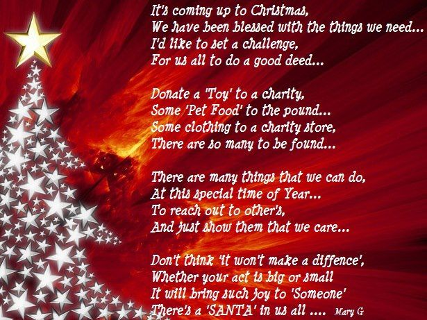 Christmas Inspirational Poems And Quotes Christmas