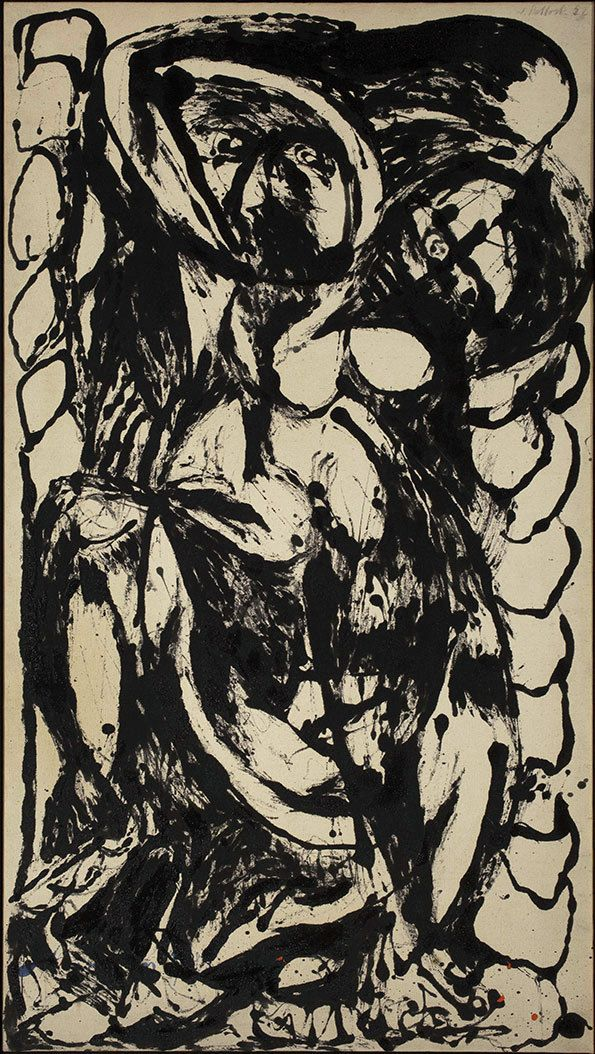 Jackson Pollock's pouring work goes on show in a new exhibition at Tate Liverpool