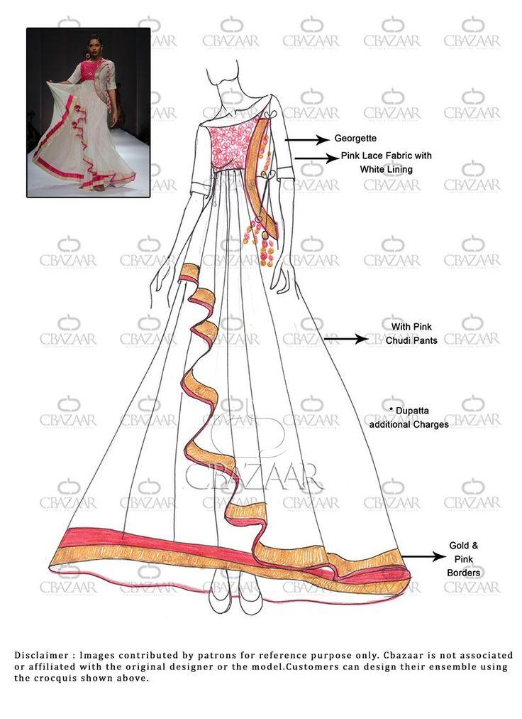 DIY White #Georgette #Anarkali Suit