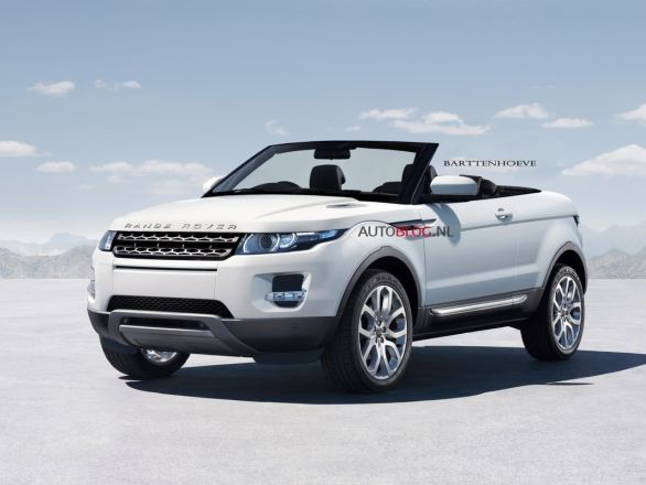 the new 2013 Range Rover Evoque, it's a hybrid and a convertible.. awesome.