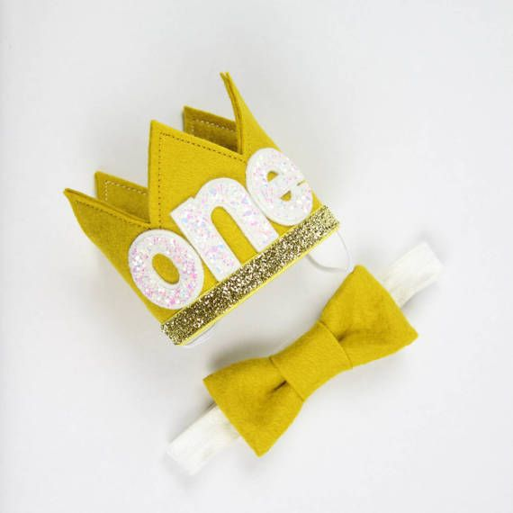 Wild ONE Birthday Crown  First Birthday Crown of Felt  Where