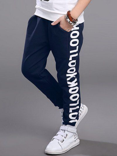 Stylish Letter Printed Sweatpants For Boy #jewelry, #women, #men, #hats, #watches, #belts