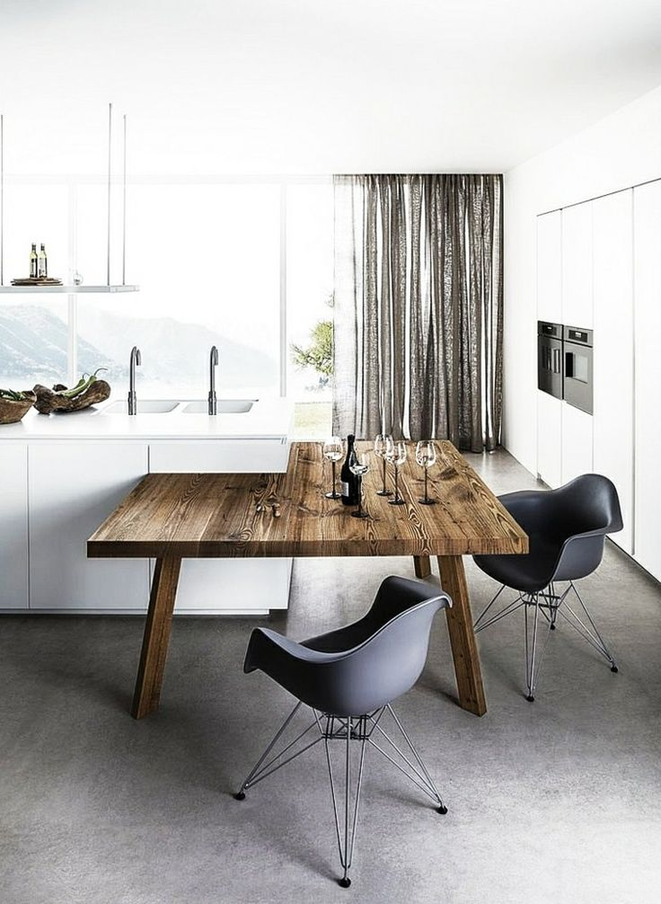diseño de cocina escandinava estilo moderno