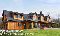 Luxury Rustic Retreat House Plan - 88600RY | Country, Craftsman, Mountain, Vacation, Luxury, Photo Gallery, Premium Collection, 1st Floor Master Suite, Bonus Room, Butler Walk-in Pantry, Den-Office-Library-Study, Media-Game-Home Theater, PDF, Wrap Around Porch, Corner Lot | Architectural Designs