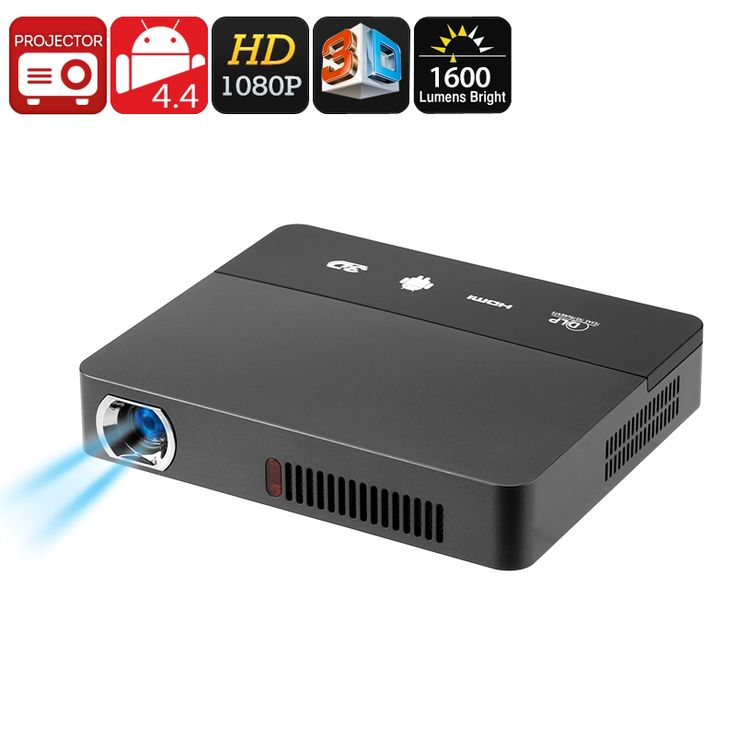 RD - 601 Smart 3D DLP Mini Projector - DLP Technology, 1080p Support, 1600 Lumen, 3D Support, Android OS, Quad-Core CPU, WiFi - The RD - 601 Smart Mini 3D Projector is an Android projector that comes with DLP technology to bring forth stunning visuals at any time.