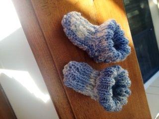 Calzette azzurre melange per neonato