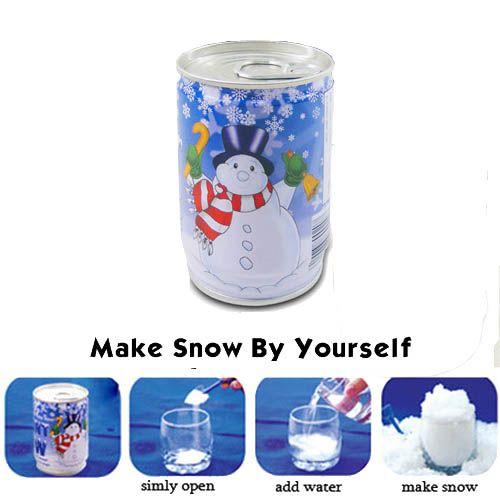 Een blikje sneeuw Ook zo'n zin in een witte kerst? Kan je je niet herinneren wanneer je voor het laatst een sneeuwpop hebt gemaakt? 101 relatiegeschenken heeft de oplossing; echte instant sneeuw in een blikje. Gooi er water bij en je sneeuw groeit. Grappig voor op kantoor of voor een promotionele actie in combinatie met een winterevent.