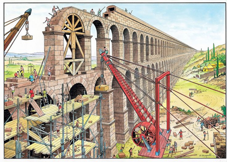 Construction of an aqueduct ~ O. Scarpelli