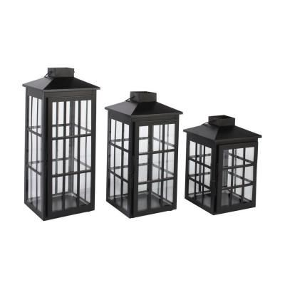Was   $79.00 $19.75 /set Save $59.25 (75%) through 07/08/2015 Window Candle Lantern Set in Black (3-Set)-DS-16785 - The Home Depot