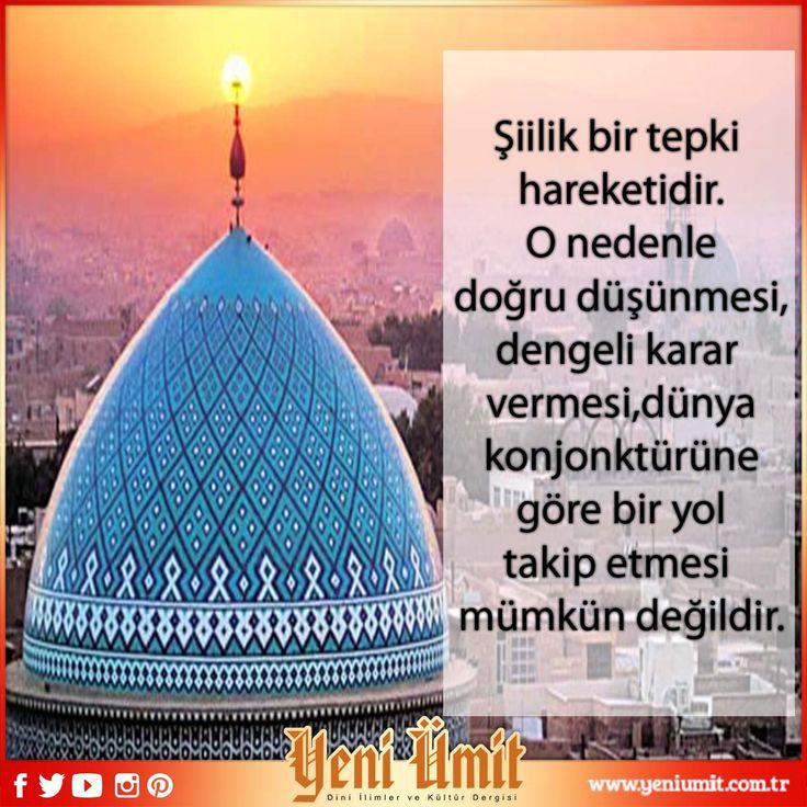 Dr. Yüksel Çayıroğlu' nun Yeni Sayıdaki 'Şia'nın ehl-i sünnet'e muhalif bazı fıkhî görüşleri' : http://www.yeniumit.com.tr/konular/detay/sianin-ehli-sunnete-muhalif-bazi-fikhi-gorusleri-109 #yeniümitdergisi #yeniümit #dergi #şia #şiilik #ehlisünnet #muhalif #muhalifgörüşler #ehlisünnet #kumşehri #siilik #ehlisünnetveşiilik
