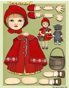 Marionnette du Petit chaperon rouge