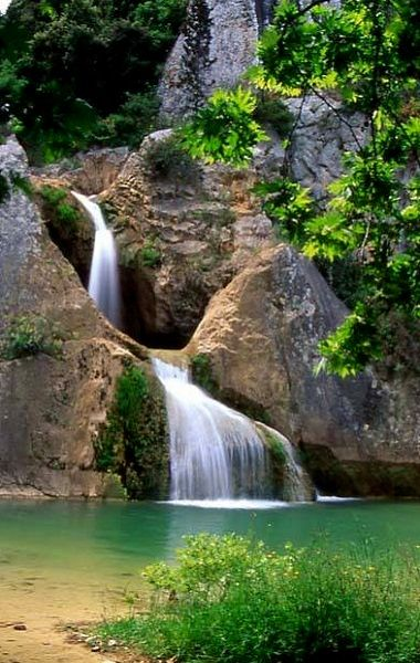 Polylimnio lake and waterfalls, Messinia (Peloponnese), Greece | by www.grfun.gr