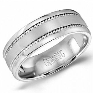 Crown Ring - Collections Wedding Bands Handwoven Hw 6100 M10