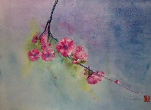 The Coming of Spring - watercolour, paper Fontaine 56 x 42cm by OliviArt