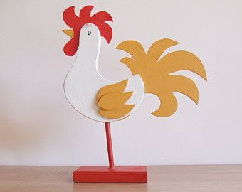 Folk Art Sweden Rooster // Bird 70s