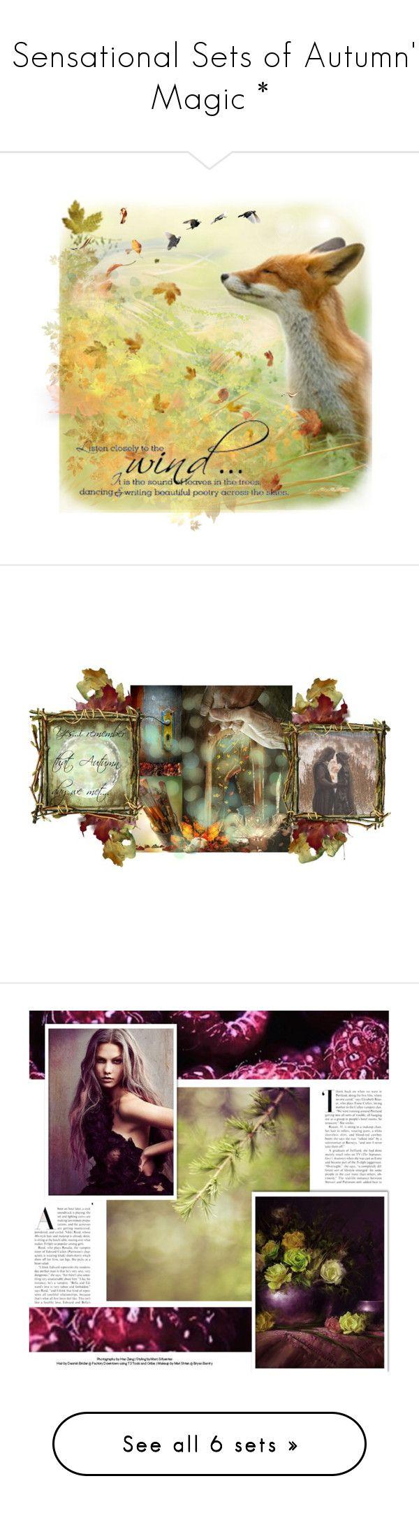 """* Sensational Sets of Autumn's Magic *"" by funkyjunkygypsy ❤ liked on Polyvore featuring art, Fall, artset, autumnart, fallart, purple, violet, dorataya, Cynthia Rowley and Alexander McQueen"