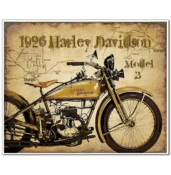 Rare handcrafted Vintage Motorcycle art prints with map of Sturgis artistically added to the background. Old black and white vintage photo art prints of motorcycle racing too. Large collection of Harley Davidson, Henderson, Indian motorcycles and more. Great gift for motorcycle enthusiasts and collectors of vintage bikes!Vintage Motorcycle Prints