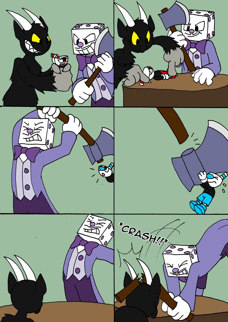 another one!!! XD idea from tom and jerry: two suffering cats the devil, king dice, cuphead and mugman belong to Studio MDHR
