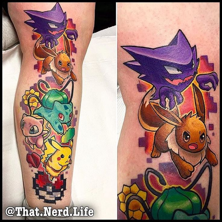 Amazing one by that.nerd.life #supernintendo #microhobbit (o) http://ift.tt/1SVHmll on this Pokemon Sleeve by @armslikewings  ---------------------------------------------  Sponsored By  ----- @Wtfplugs ----- --- @GeekyWears --- Want a feature  use #thatnerdlifeyo Tattoos - Clothes - Gaming - Geekery --------------------------------------------- @JoshiexJames @That.Nerd.Life ---------------------------------------------- #pokemon I #eevee I #eeveetattoo I #eeveelution I #pokemontattoo I…
