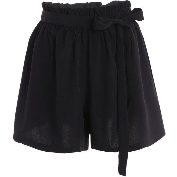 Plus Size Self Tie Culotte Shorts (27 CAD) ❤ liked on Polyvore featuring shorts, pants, short, short shorts, culottes shorts, plus size culottes, short culottes and womens plus size shorts
