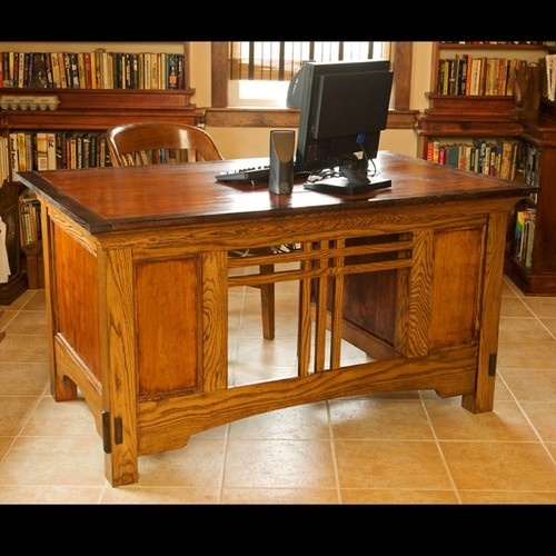 339 best craftsman style office library images on for Craftsman style office