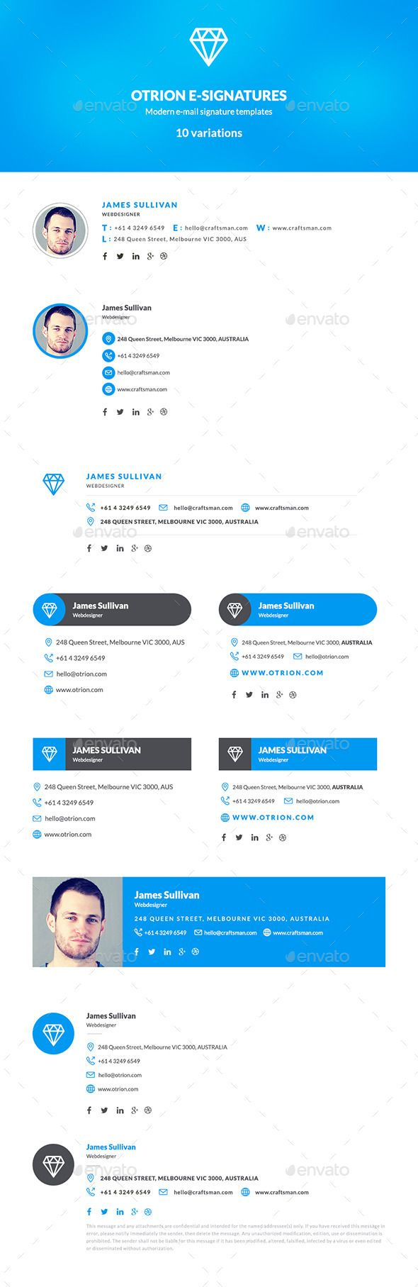 E-Signatures - 10 Modern E-mail Signatures