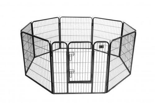 "GATED 8 Panel 24"" HEAVY GAUGE METAL Pet Playpen Exercise FOLDING Fence FREE SHIP #Unbranded"