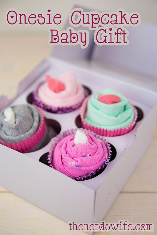 How to make a onesie cupcake baby shower gift. Great step-by-step instructions.