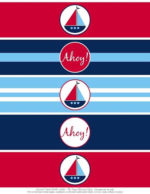 Free Printables: Nautical Party Printables
