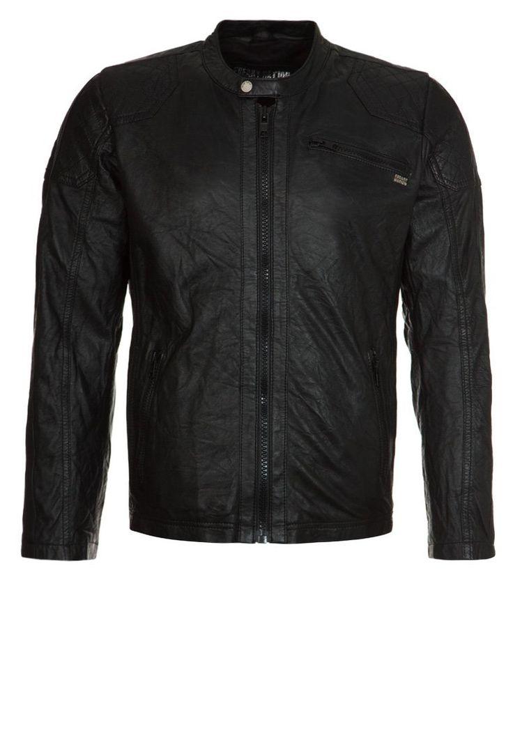 Freaky Nation JACK Kurtka skórzana black 506.35zł #moda #fashion #men #mężczyzna #freaky #nation #jack #kurtka #skórzana #męska #black #skóra #przejściowa #jesienna #wiosenna