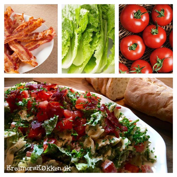 Pastasalat med bacon og tomat | Kreamors Køkken